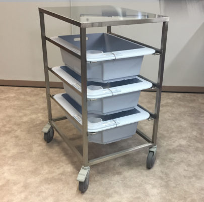 PureStation Three Tier Transport Cart Work Station Model