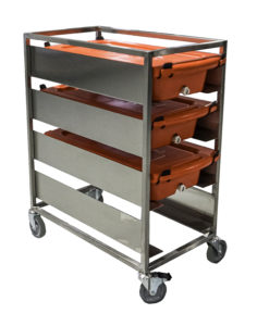PureSteel™ XL Transport Container Tiered Cart 2